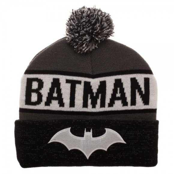 6e54f2b404c79 Batman Reflective Cuff Beanie Hat DC Comics. Boutique